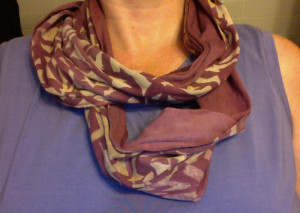 Hand-dyed scarf by Laurel Schwass-Drew